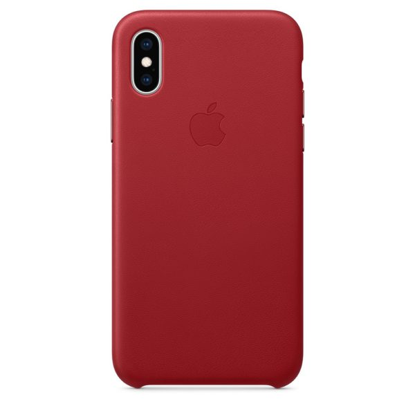 iPhone XS Leather Case - Red