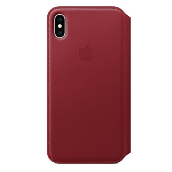 iPhone XS Max Leather Folio - Red