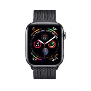 Apple Watch Series 4 Space Black Stainless Steel Case with Space Black Milanese Loop