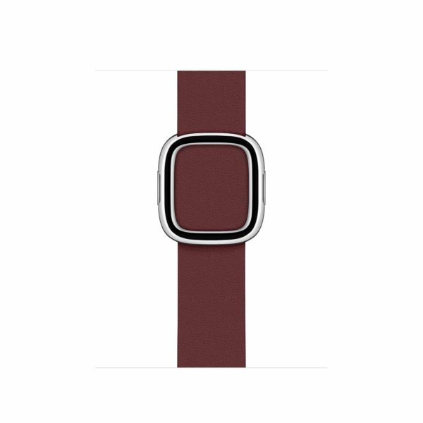 leather modern buckle garnet