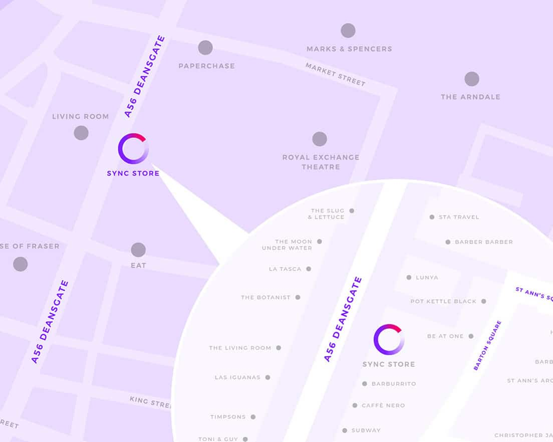 sync store map