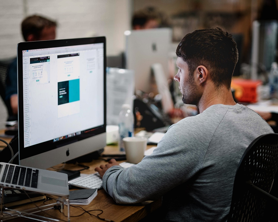 Person doing Adobe training