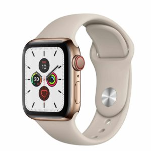 Apple Watch Series 5 Gold Stainless Steel Case with Stone Sport Band
