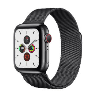 Apple Watch Series 5 Space Black Stainless Steel Case with Space Black Milanese Loop