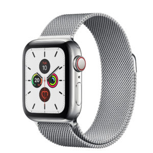 Apple Watch Series 5 Stainless Steel Case with Stainless Steel Milanese Loop