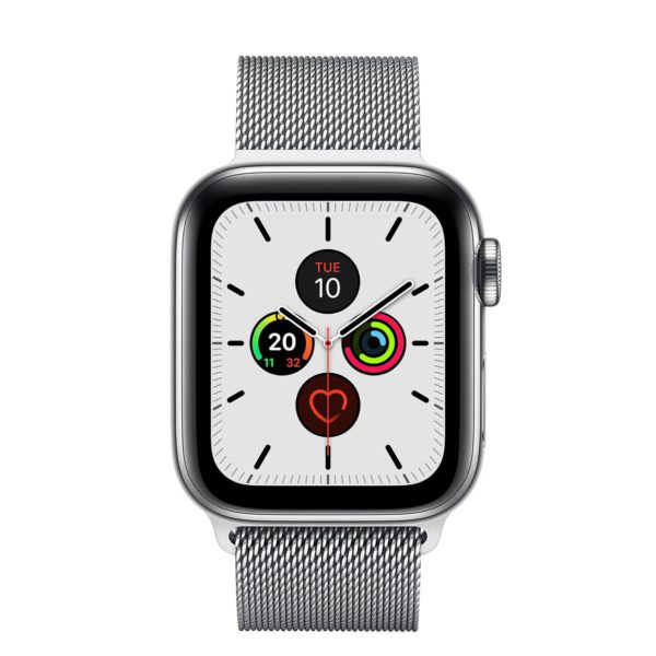 Apple Watch Series 5 Stainless Steel Case with Stainless Steel Milanese Loop