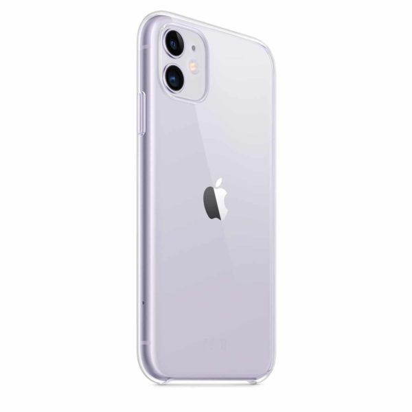 iPhone 11 clear case - purple