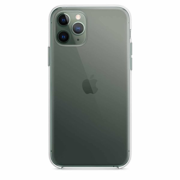iPhone 11 Pro clear case - midnight green