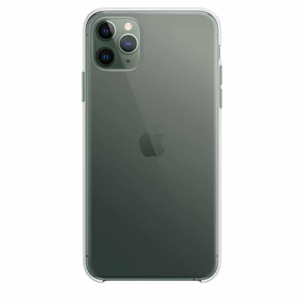 iPhone 11 Pro Max clear case - midnight green