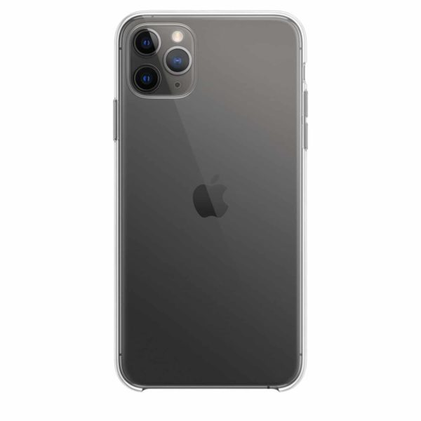iPhone 11 Pro Max clear case - space grey