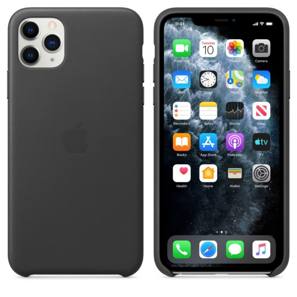 iPhone 11 Pro Max Leather Case - Black