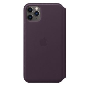 iPhone 11 Pro Max Leather Folio - Aubergine