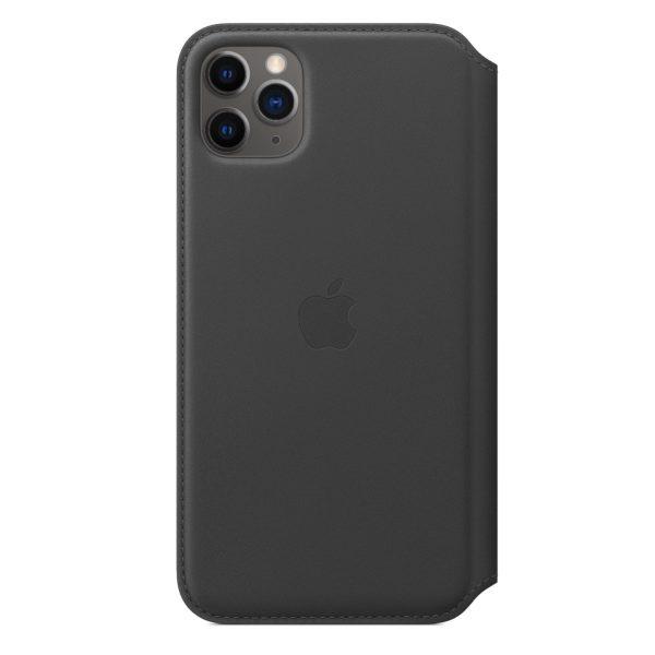 iPhone 11 Pro Max Leather Folio - Black