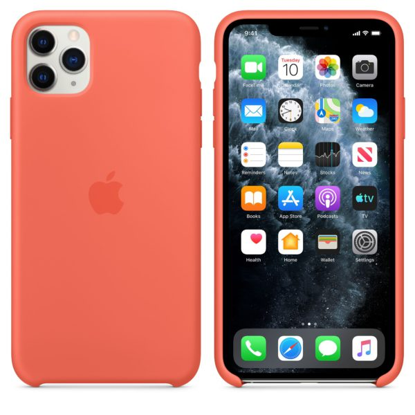 iPhone 11 Pro Max Silicone Case - Clementine