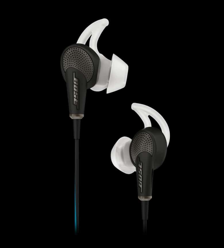 Bose QuietComfort 20 Acoustic Noise Cancelling In-Ear Headphones MFI – Black