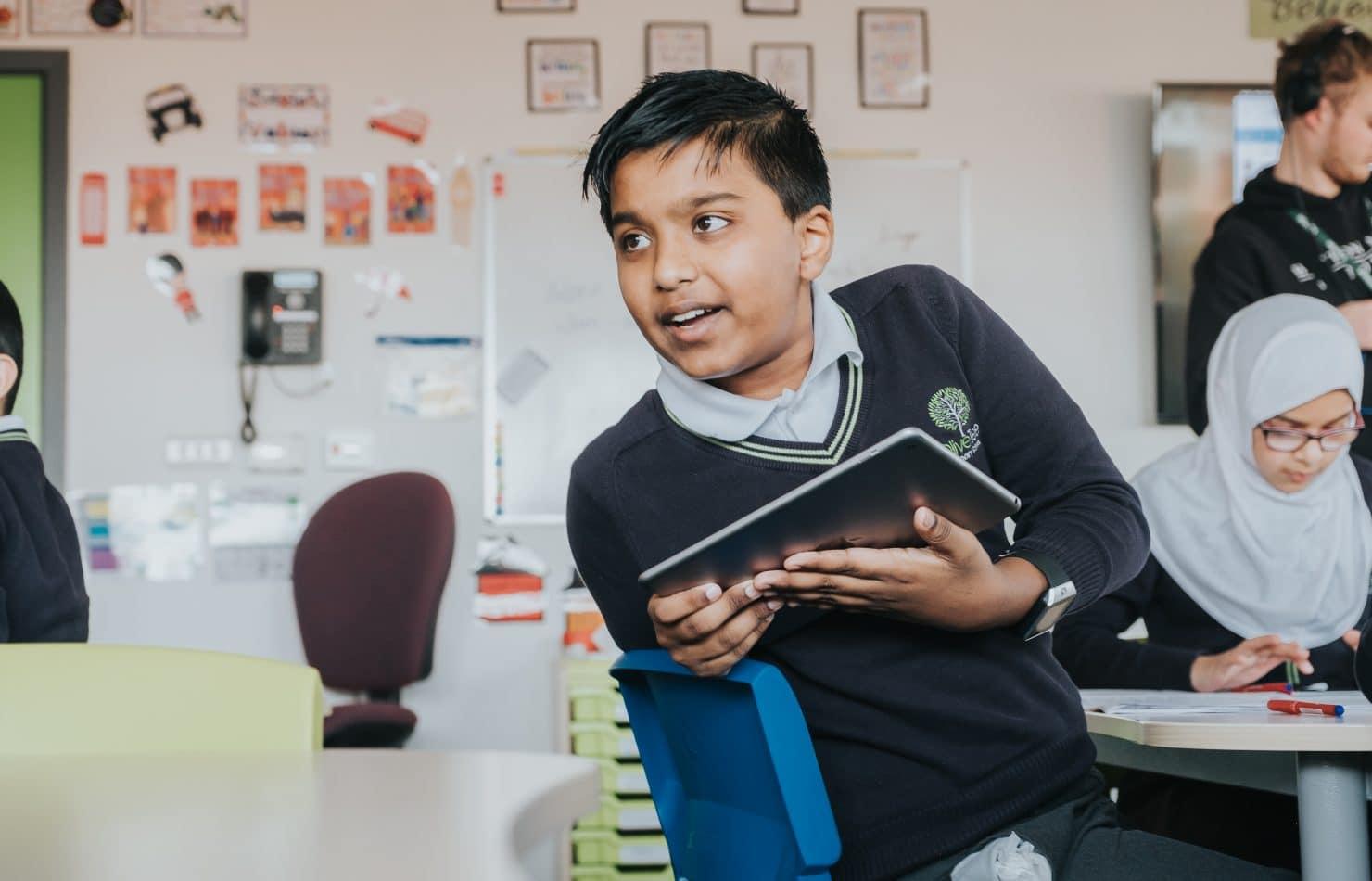 Child enjoying EdTech