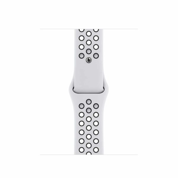Apple Watch Nike SE Silver Aluminium Case with Pure Platinum/Black Nike Sport Band