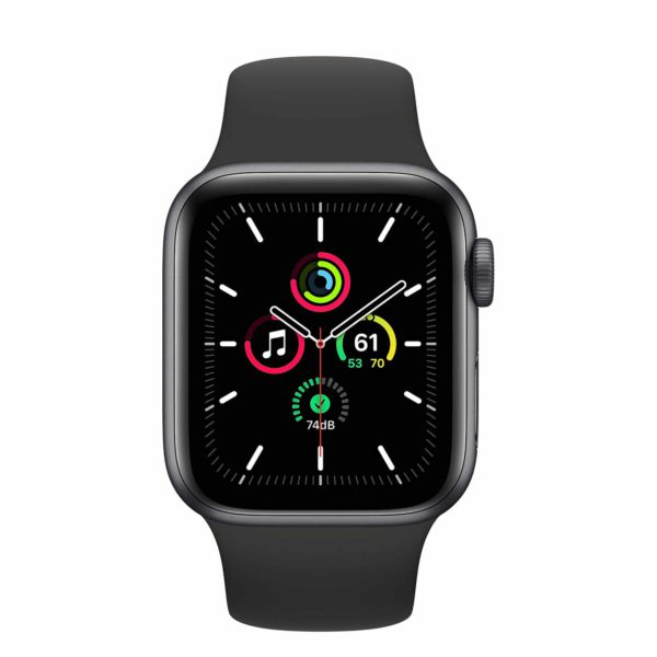 Apple Watch SE Space Gray Aluminium Case with Black Sport Band