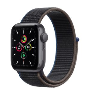 Apple Watch SE Space Gray Aluminium Case with Charcoal Sport Loop