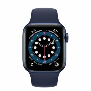 Apple Watch Series 6 Blue Aluminium Case with Deep Navy Sport Band