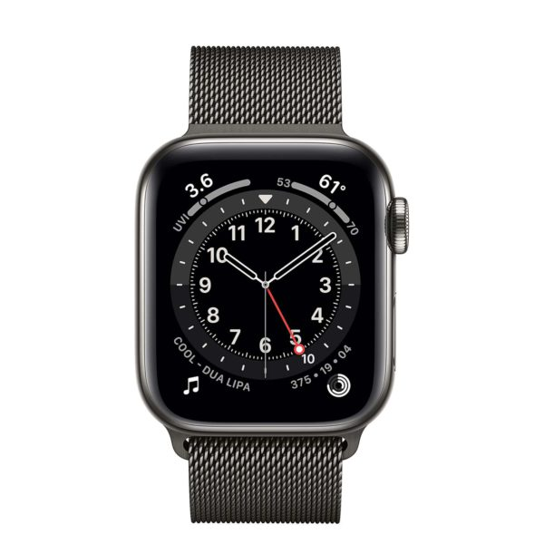 Apple Watch Series 6 Graphite Stainless Steel Case with Graphite Milanese Loop