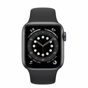 Apple Watch Series 6 Space Gray Aluminium Case with Black Sport Band