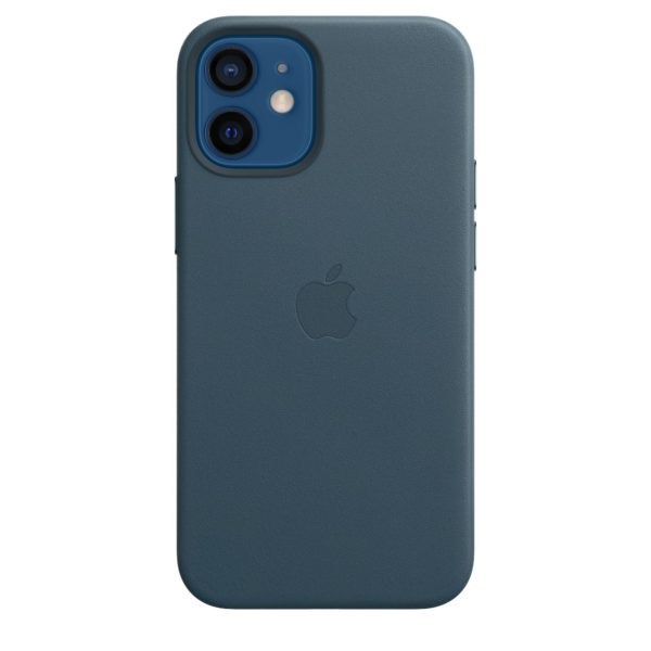 iPhone 12 mini Leather Case with MagSafe - Baltic Blue