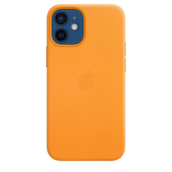 iPhone 12 mini Leather Case with MagSafe - California Poppy