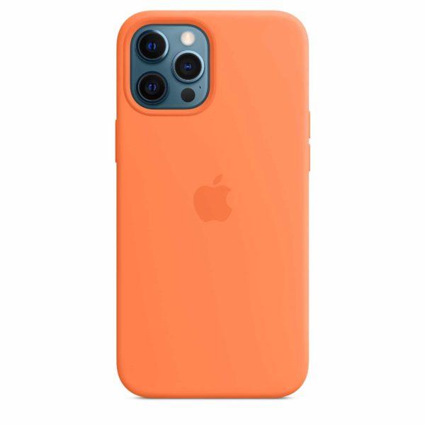 iPhone 12 Pro Max Silicone Case with MagSafe - Kumquat