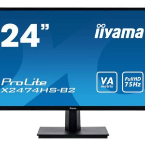 iiyama ProLite 24-inch LED Monitor with HDMI, VGA, and DisplayPort (X2474HS-B2)