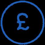 iPad in Business money icon
