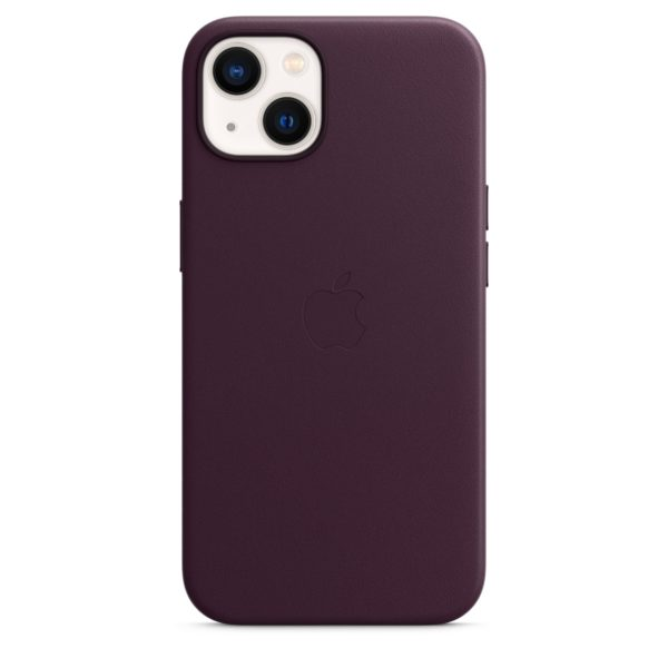 iPhone 13 Leather Case with MagSafe - Dark Cherry