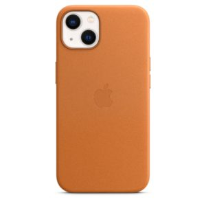 iPhone 13 Leather Case with MagSafe - Golden Brown