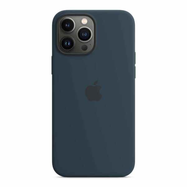 iPhone 13 Pro Max Silicone Case with MagSafe – Abyss Blue