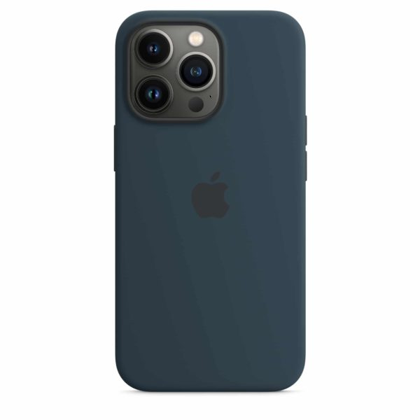 iPhone 13 Pro Silicone Case with MagSafe – Abyss Blue