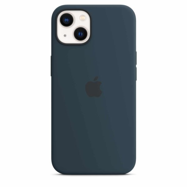iPhone 13 Silicone Case with MagSafe – Abyss Blue