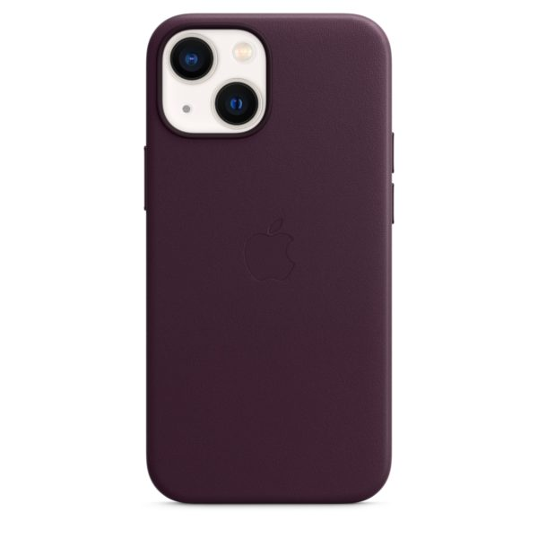 iPhone 13 mini Leather Case with MagSafe - Dark Cherry