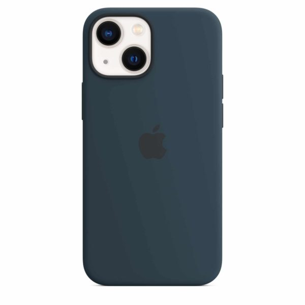 iPhone 13 mini Silicone Case with MagSafe - Abyss Blue
