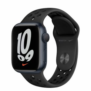 Apple Watch Nike Series 7 Midnight Aluminium Case with Anthracite/Black Nike Sport Band