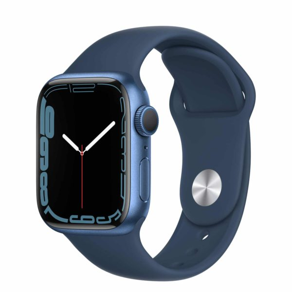 Apple Watch Series 7 Blue Aluminium Case with Abyss Blue Sport Band