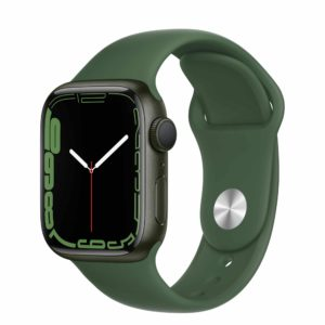 Apple Watch Series 7 Green Aluminium Case with Clover Sport Band