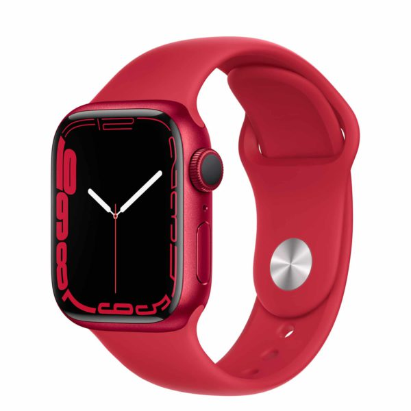 Apple Watch Series 7 (PRODUCT)RED Aluminium Case with (PRODUCT)RED Sport Band